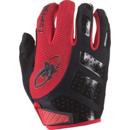 Monitor SL Gloves: Jet Black/Crimson