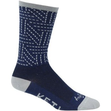 Logo Socks: Navy/Gray