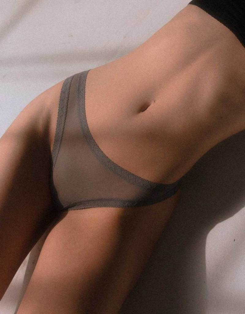 Blush The Mesh Lace Trim Thong