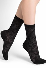 Bleu Forêt Rock garden lacy silk socks