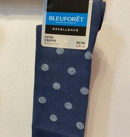 Bleu Forêt Chaussettes coton d'egypte