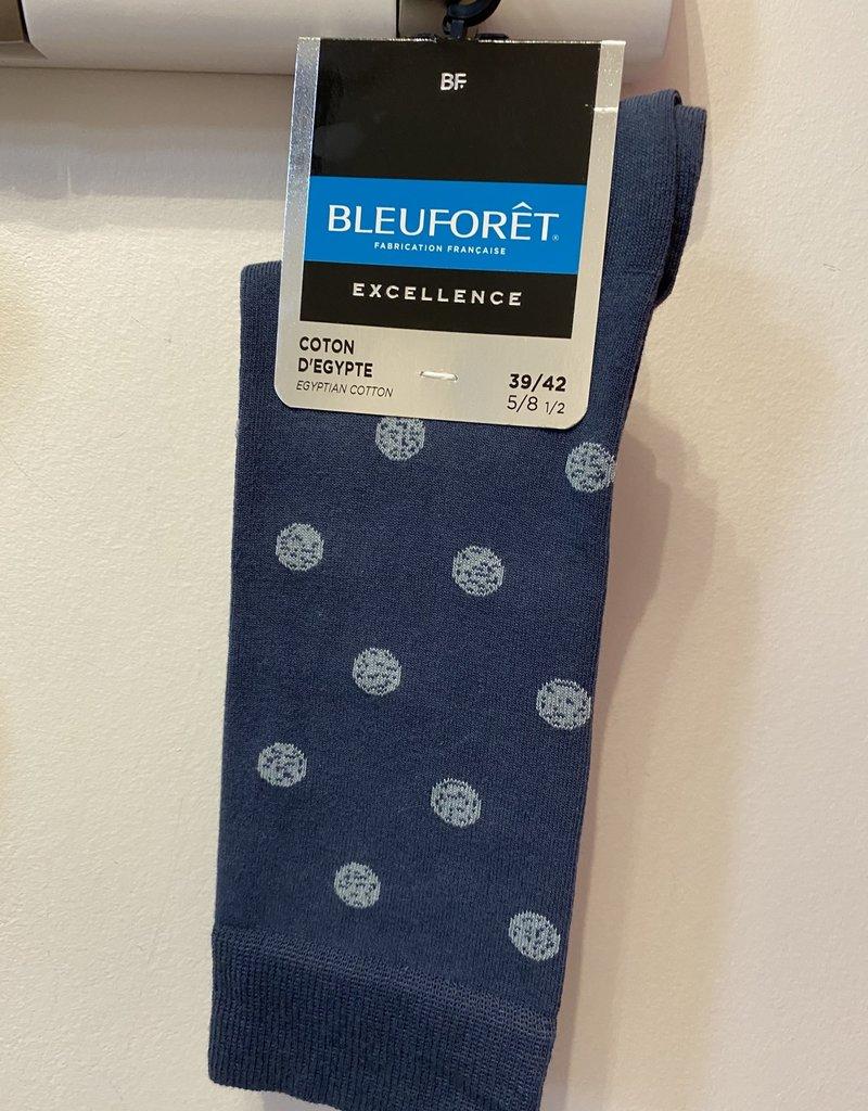 Bleu Forêt Egyptian cotton socks