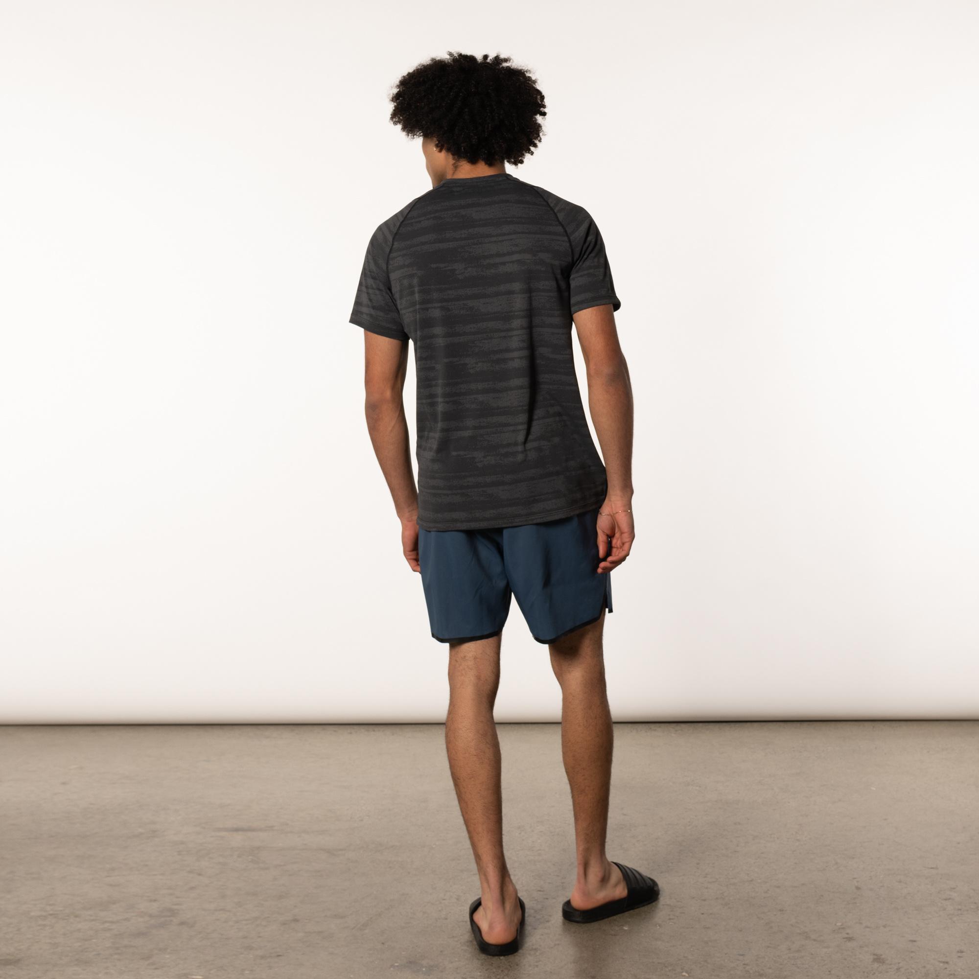 Aerator Short Sleeve TEE Black Washed Stripe