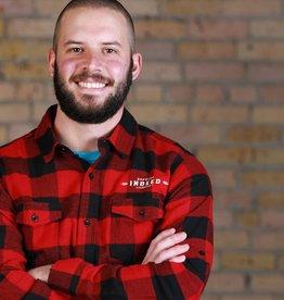 Burnside Men's Buffalo Check Flannel Shirt - Red/Black