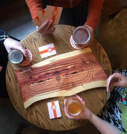 Wood from the Hood Indeed Brewing Cribbage Board