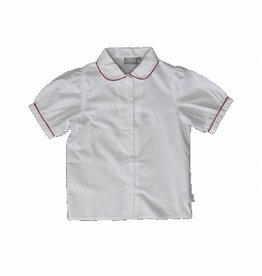Proper Uniforms Shirt White with Red Piping Youth