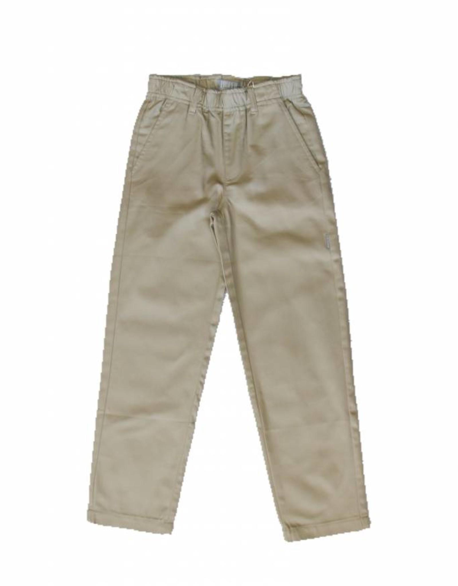 Pants Youth Khaki with Elastic