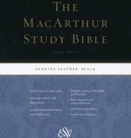 STUDY BIBLE, MacArthur LARGE Print-Black Genuine Leather