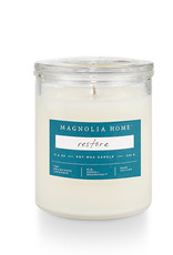 Magnolia Home-Restore Glass Jar Candle