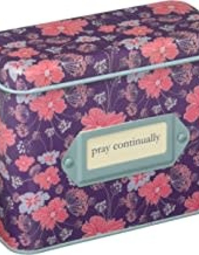 PRAYER CARDS IN TIN: PRAY CONTINUALLY