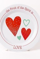 PLATE FRUIT OF THE SPIRIT IS LOVE