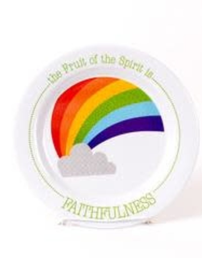 PLATE FRUIT OF THE SPIRIT IS FAITHFULNESS