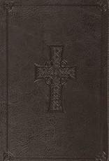 VALUE THINLINE BIBLE, TruTone Charcoal, Celtic Cross