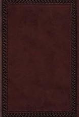 LARGE PRINT VALUE THINLINE BIBLE, TruTone Mahogany Border Design