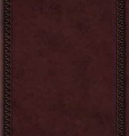 LARGE PRINT VALUE THINLINE BIBLE, TruTone Mahogany Border Design