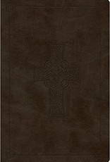 VALUE COMPACT BIBLE, OLIVE, CELTIC CROSS
