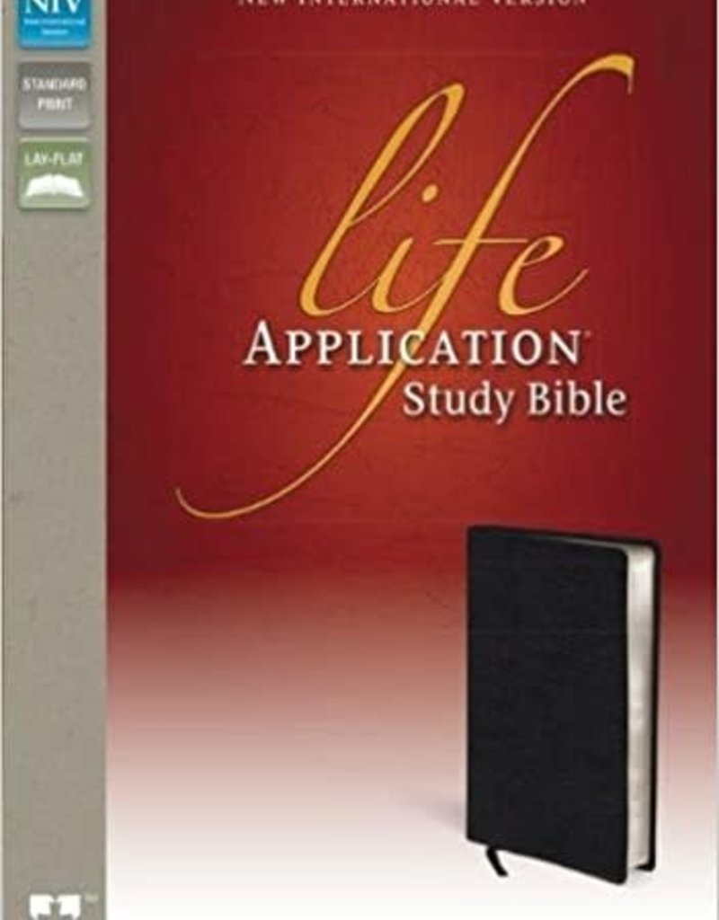 LIFE APPLICATION STUDY BIBLE - Black Bonded Leather