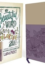 BEAUTIFUL WORD COLORING BIBLE -Large Print-Purple/Tan Leathersoft