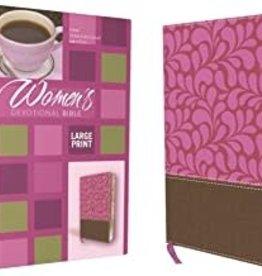 WOMAN'S DEVOTIONAL BIBLE - Large Print Brown/Pink