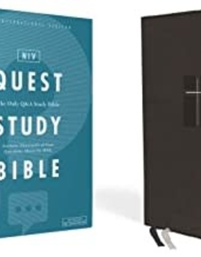 QUEST STUDY BIBLE, Leathersoft, Black, Indexed, Comfort Print