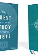 QUEST STUDY BIBLE, Leathersoft, Teal, Indexed, Comfort Print
