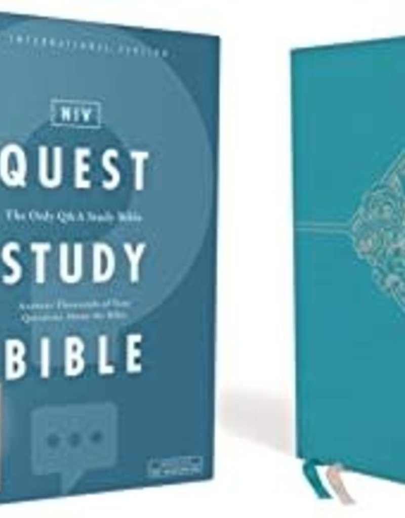 QUEST STUDY BIBLE, Leathersoft, Teal, Comfort Print