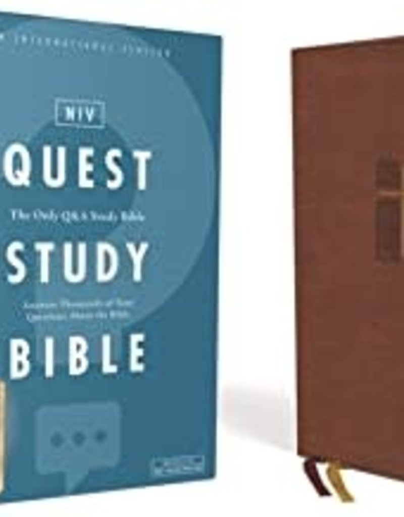 QUEST STUDY BIBLE, Leathersoft, Brown, Comfort Print