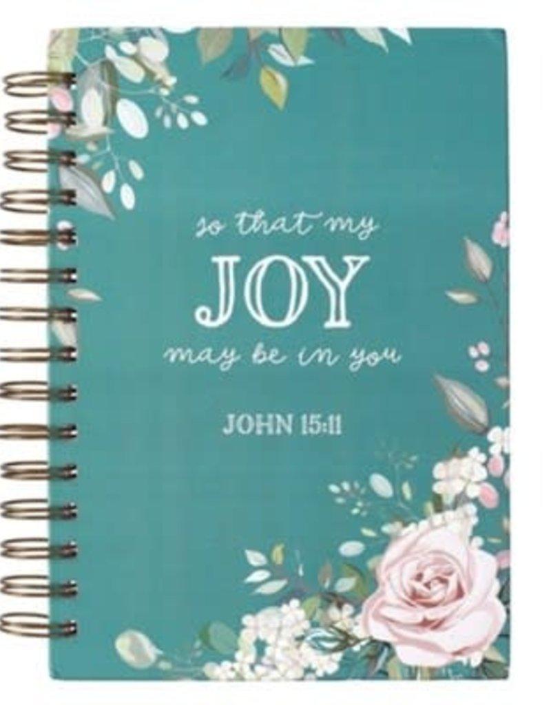 Spiral-bound Teal Journal - So That Joy
