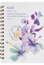 Faith Floral Wirebound Journal