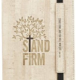 Stand Firm Dot Journal, Gray with Elastic Closure
