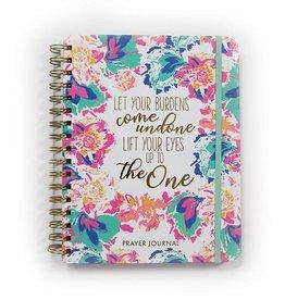 Let Your Burdens Peony Prayer Journal