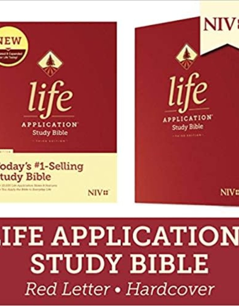 LIFE APPLICATION STUDY BIBLE (Third Edition)-Red Letter-Hardcover