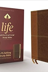 LIFE APPLICATION STUDY BIBLE, Third Edition, Leathersoft, Brown, Red Letter Edition