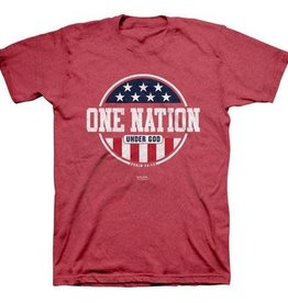 KERUSSO PATRIOTIC  T -SHIRT SMALL -HEATHER RED