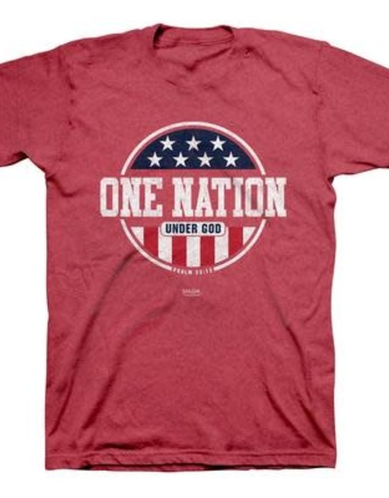 KERUSSO PATRIOTIC  T -SHIRT XXL -HEATHER RED