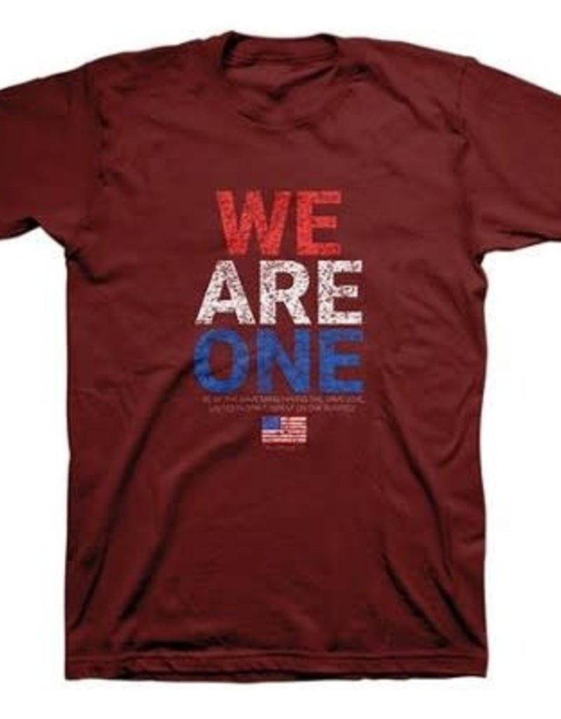 We Are One, Flag, Shirt, Red, X-Large