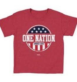 KERUSSO Kids T-Shirt Patriotic- Medium Red