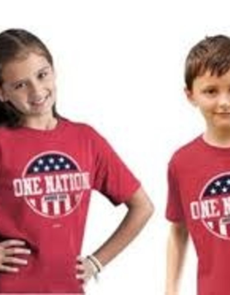 KERUSSO Kids T-Shirt Patriotic- Medium Red