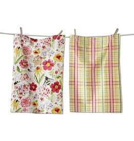 Fresh Flower Garden Dishtowel Set of 2