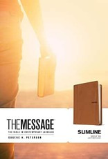 The Message Slimline Leather-Look, Saddle Tan