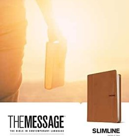 The Message Slimline Leather-Look, Saddle Tan