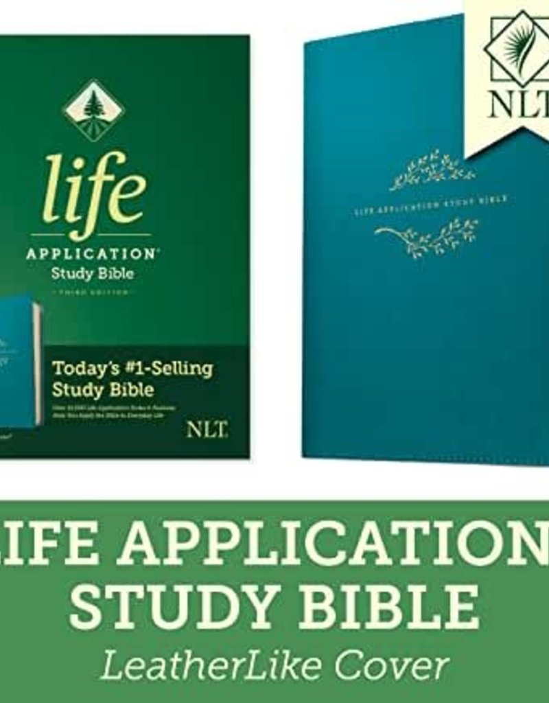 NLT2 Life Application Study Bible (Third Edition)-Teal Blue LeatherLike (Oct)