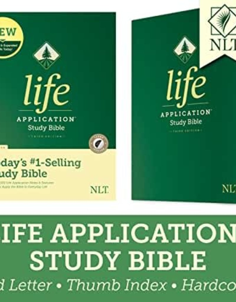 NLT2 Life Application Study Bible (Third Edition)-Red Letter-Hardcover Indexed
