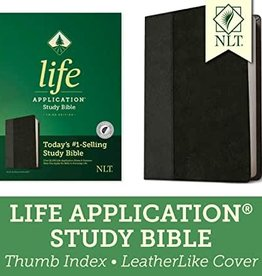 NLT2 Life Application Study Bible (Third Edition)-Black/Onyx LeatherLike Indexed