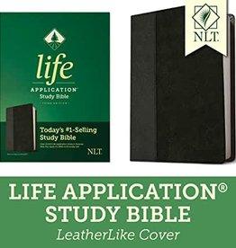 NLT2 Life Application Study Bible (Third Edition)-Black/Onyx LeatherLike