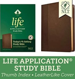 NLT2 Life Application Study Bible (Third Edition)-Dark Brown/Brown LeatherLike Indexed