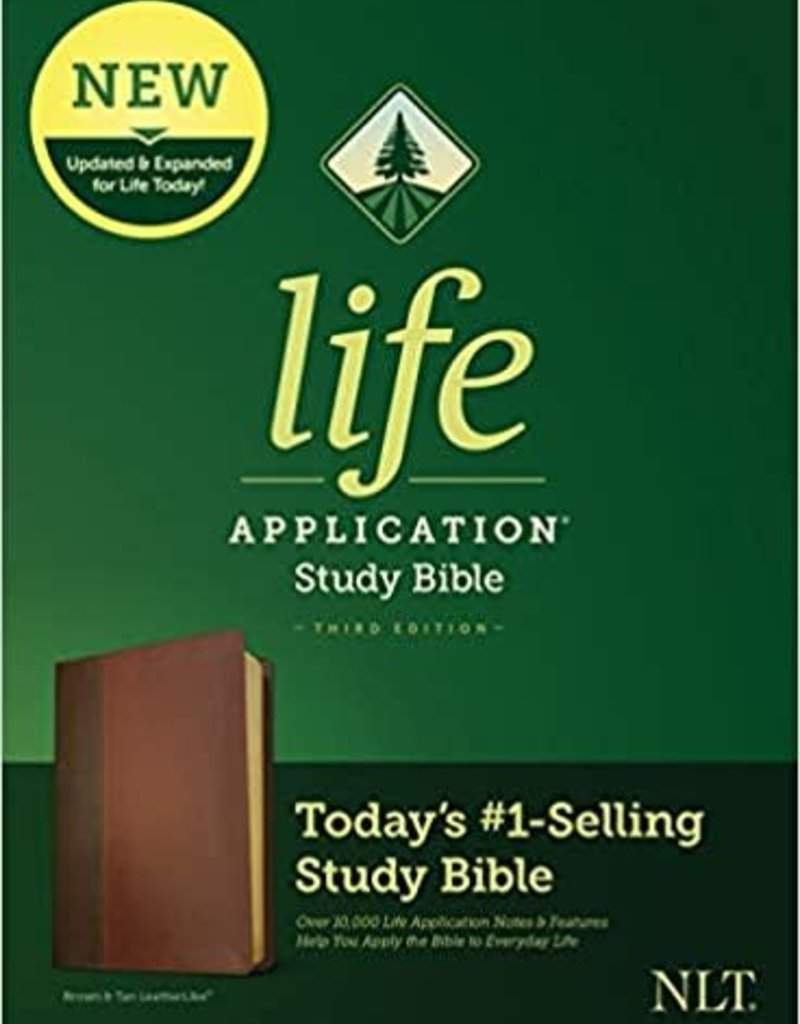 NLT2 Life Application Study Bible (Third Edition)-Brown/Tan LeatherLike Indexed