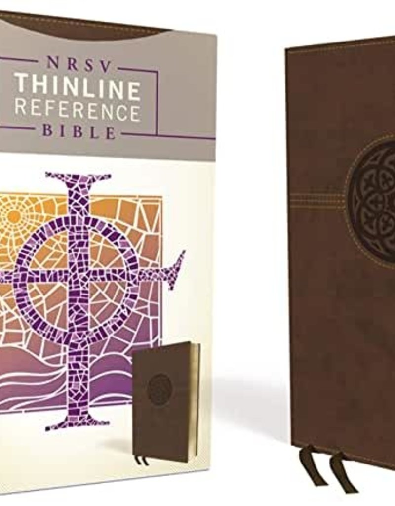 NRSV, Thinline Reference Bible, Leathersoft, Brown, Indexed, Comfort Print