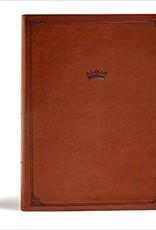CSB Tony Evans Study Bible--soft leather-look, British tan