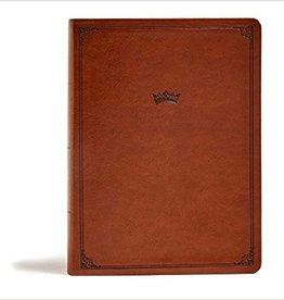 CSB Tony Evans Study Bible--soft leather-look, British tan